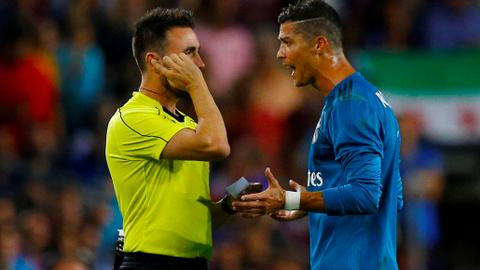 Ronaldo hit with five-match ban after pushing referee