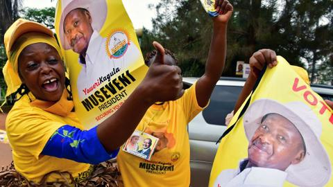 Museveni on way for sixth term as Uganda's president
