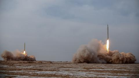 Iran fires long-range missiles on second day of military drills