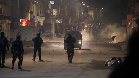 Young Tunisians clash with police on fourth consecutive night