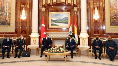 Turkey's defence chiefs visit northern Iraq