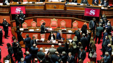 Italian PM Conte wins confidence vote but loses overall majority