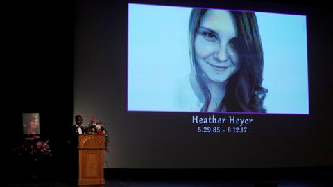 """Virginia rally victim's message of peace """"magnified"""", mother tells memorial"""