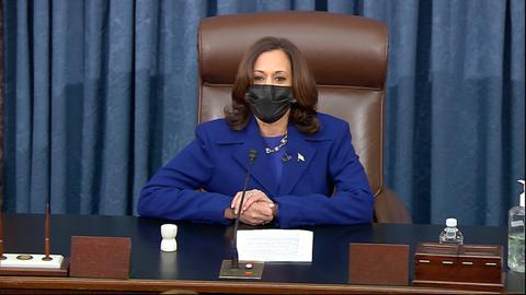Inauguration latest: Dems control Senate after Harris swears in new members