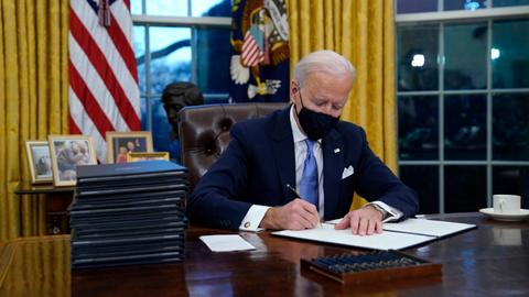 Biden issues executive orders to undo several Trump policies