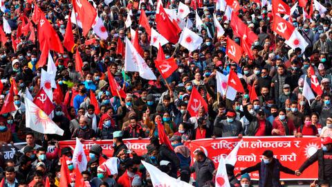 Tens of thousands protest against Nepal's PM Oli