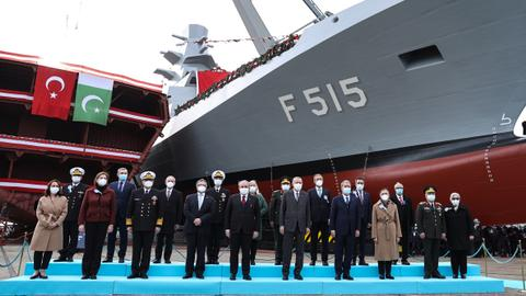 Turkey launches indigenous frigate in show of navy power