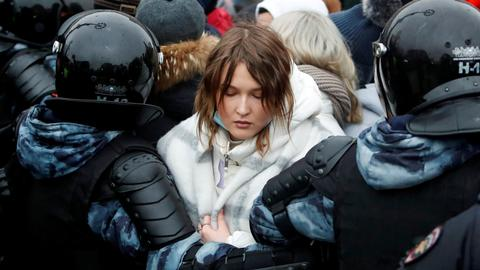 Russia probes protest violence after detaining nearly 3,500