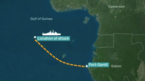 Turkish ship anchors at Gabon port after deadly pirate attack