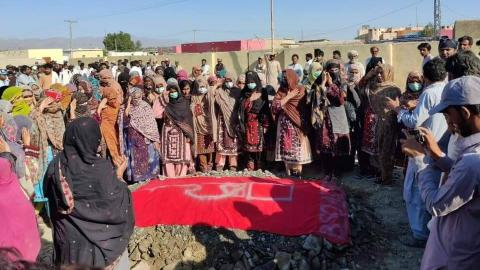 Pakistani Baloch community buries activist amid high security