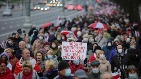 Belarus opposition leader urges tougher response from West on Lukashenko