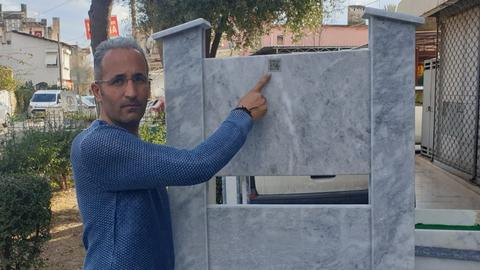 Smart graves: A Turkish entrepreneur builds QR-coded tombstones