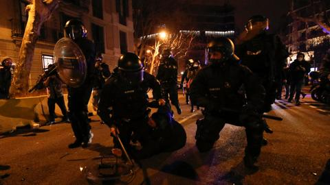 Several arrested in Barcelona as protests over jailed rapper turn violent