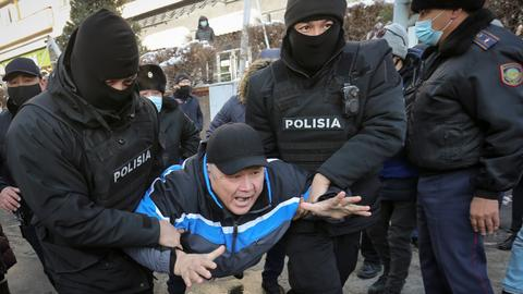 Kazakh police detain dozens of opposition protesters
