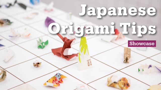 Japanese Tips Origami Art From Used Chopstick Wrappers Trt World