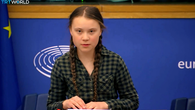 Teenage activist tells EU to panic about climate change