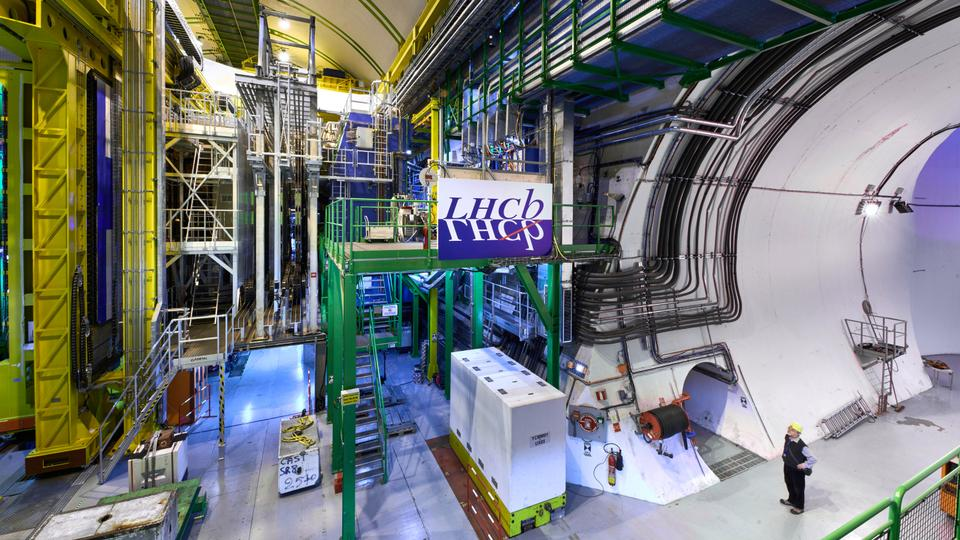 FILE PHOTO: A view of the large drone collider at CERN, near Geneva, Switzerland.