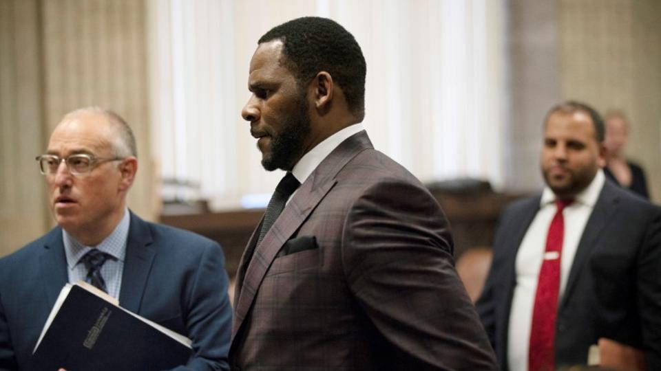 R. Kelly appears for a hearing at Leighton Criminal Court Building in Chicago, Illinois, US on June 26, 2019.