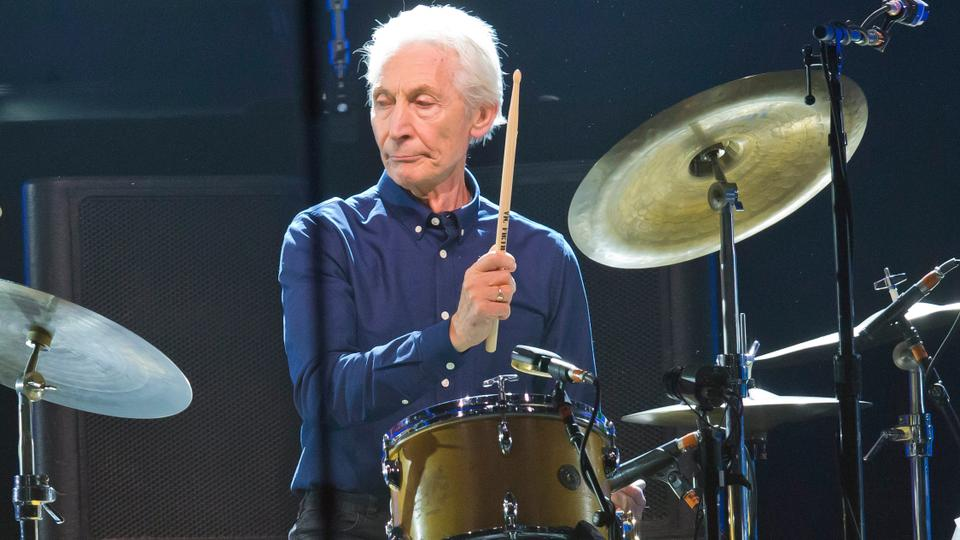 Charlie Watts, of the Rolling Stones, performs during a concert of the group's No Filter Europe Tour at U Arena in Nanterre, outside Paris, France, on October 22, 2017.