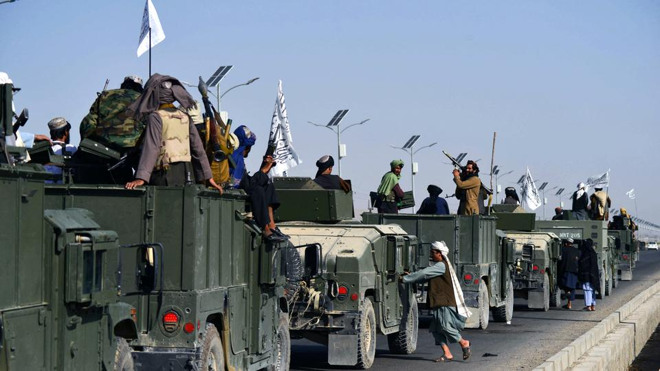 The Taliban fighters celebrated victory after driving out the world's most powerful military out of the country