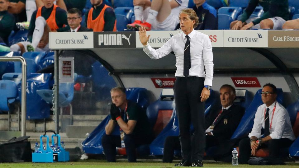 Italy coach Roberto Mancini looks on REUTERS on September 5, 2021.