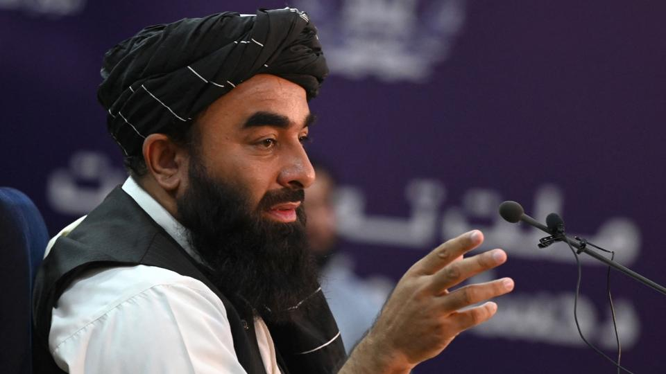 Taliban spokesperson Zabihullah Mujahid says