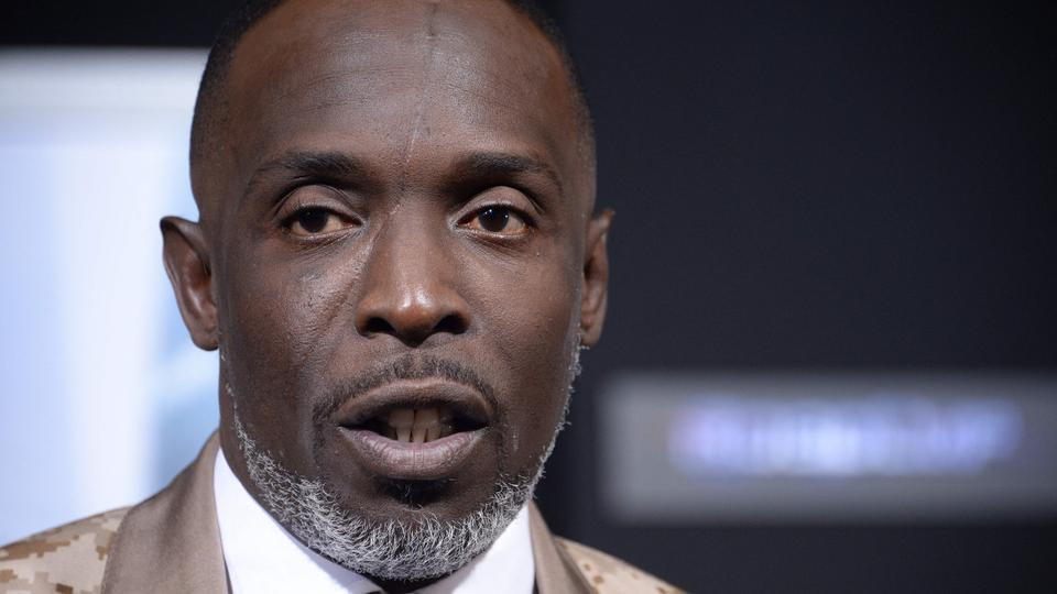 (FILES) In this file photo taken on February 10, 2014 actor Michael K. Williams arrives at the Los Angeles premiere of 'Robocop' at TCL Chinese Theatre, in Hollywood, California.