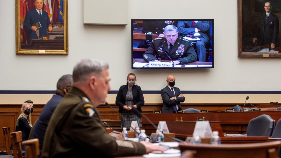 US military chiefs respond to questions during a House Armed Services Committee hearing on