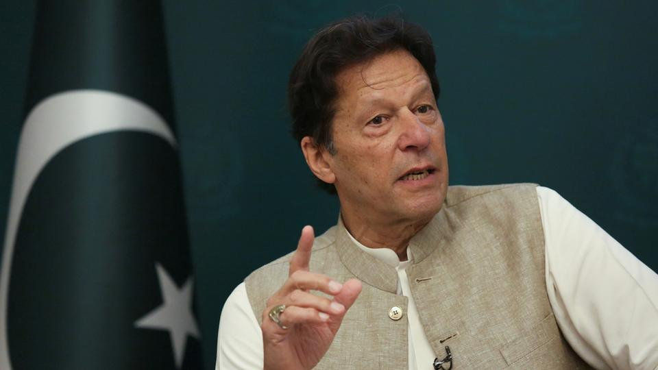 Pakistan's Prime Minister Imran Khan speaks during an interview with Reuters in Islamabad, Pakistan June 4, 2021.