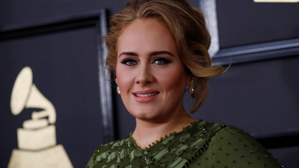 Singer Adele arrives at the 59th Annual Grammy Awards in Los Angeles, California, US on February 12, 2017.
