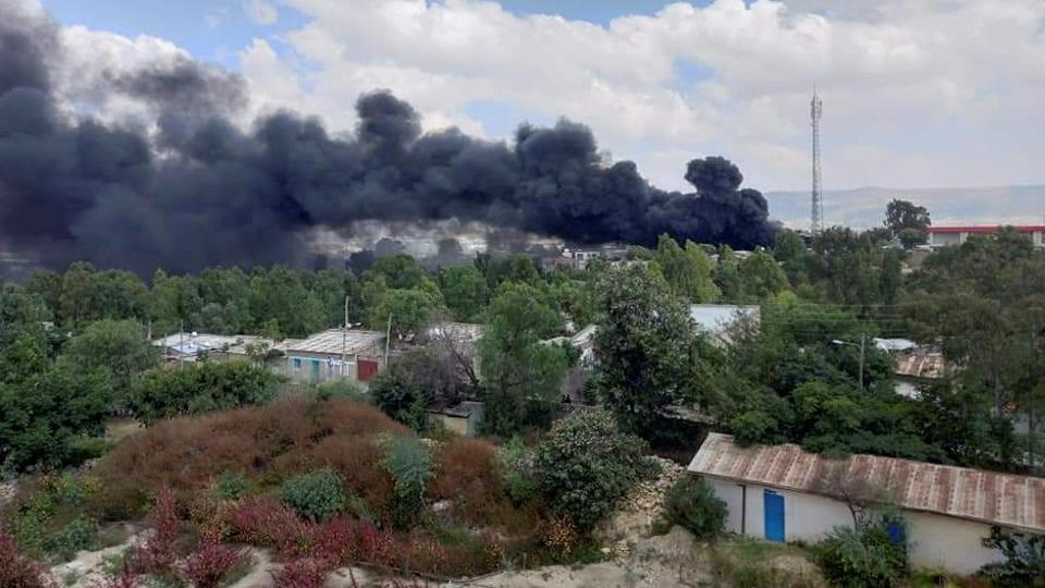 TPLF's training and command post was the target of the latest air strike.