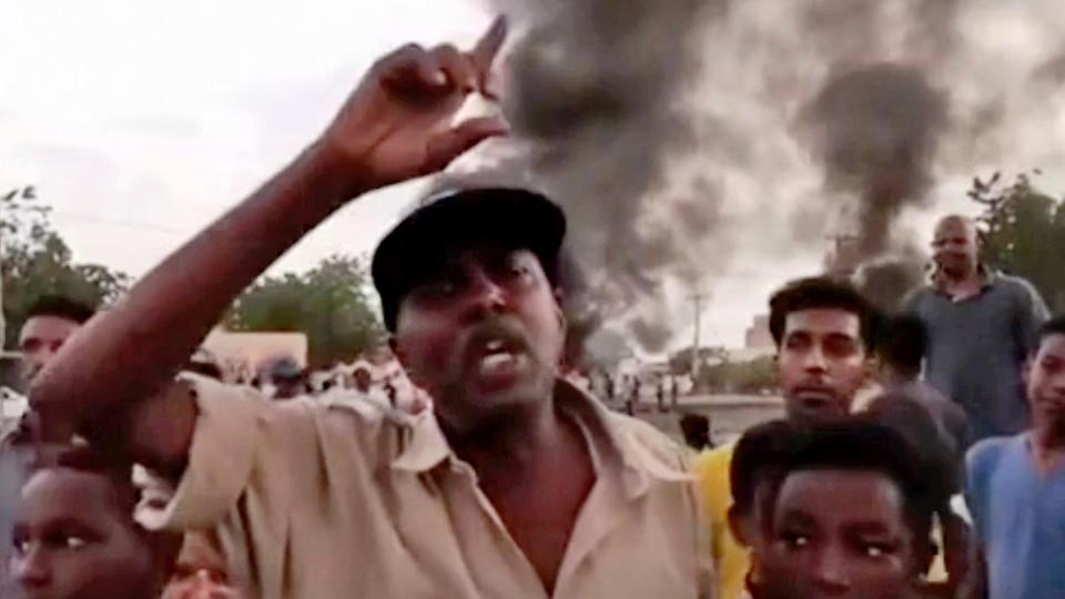 Thousands have flooded the streets of Khartoum and its twin city of Omdurman to protest the military takeover.