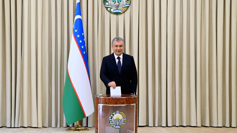 The incumbent president Mirziyoyev was expected to win in a landslide against weak competition.