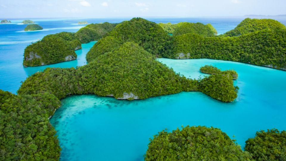 Seventy Islands, Palau.