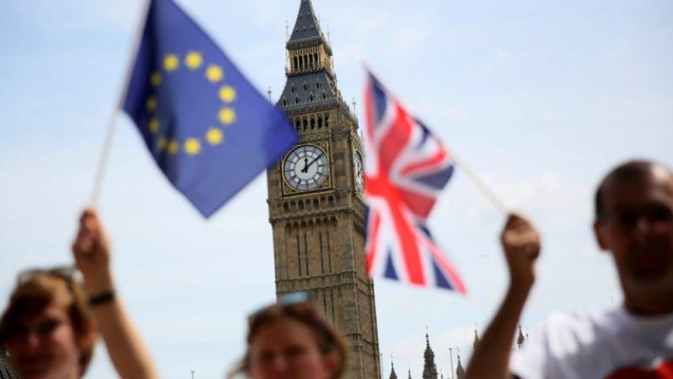 Image result for EU flag, british parliament, photos