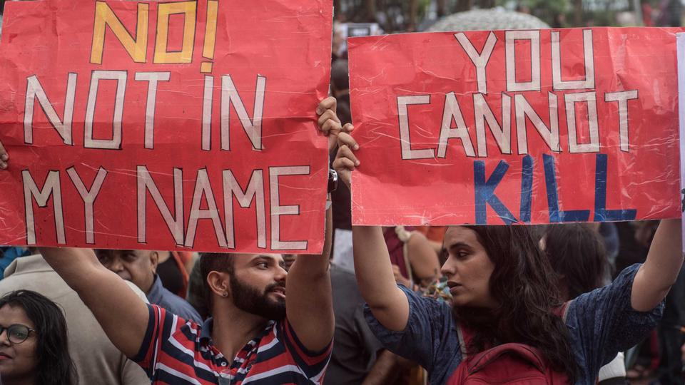 Many citizens and celebrities hit the street in support of the campaign 'Not In My Name' against lynching of a Muslim teenager Junaid, at Carter Road, Bandra, on June 28, 2017 in Mumbai, India. Thousands of people have turned out in protests across India against a wave of attacks on Muslims by mobs that accuse them of killing cows or eating beef.