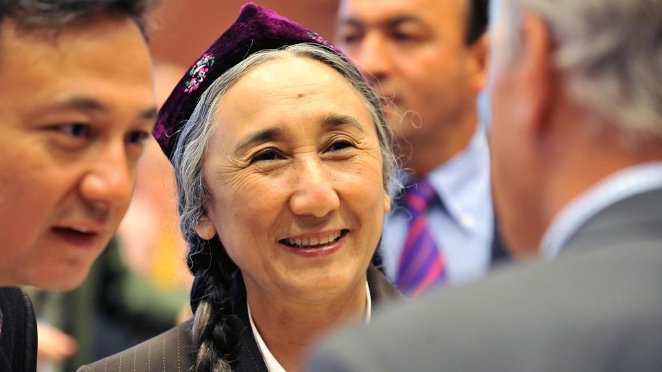 World Uyghur Congress head Rebiya Kadeer (centre), a former political prisoner, is accused in China of leaking state secrets in 1999.