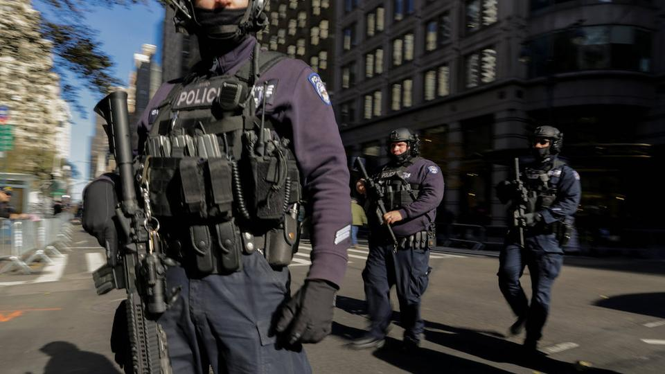 New York Police officers are seen in New York, US, November 11, 2017.