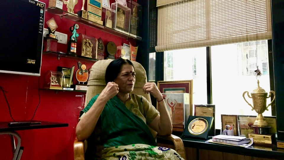 When you walk into her little office in an apartment building in the heart of Mumbai, you are made aware that Rajani Pandit is no ordinary woman.
