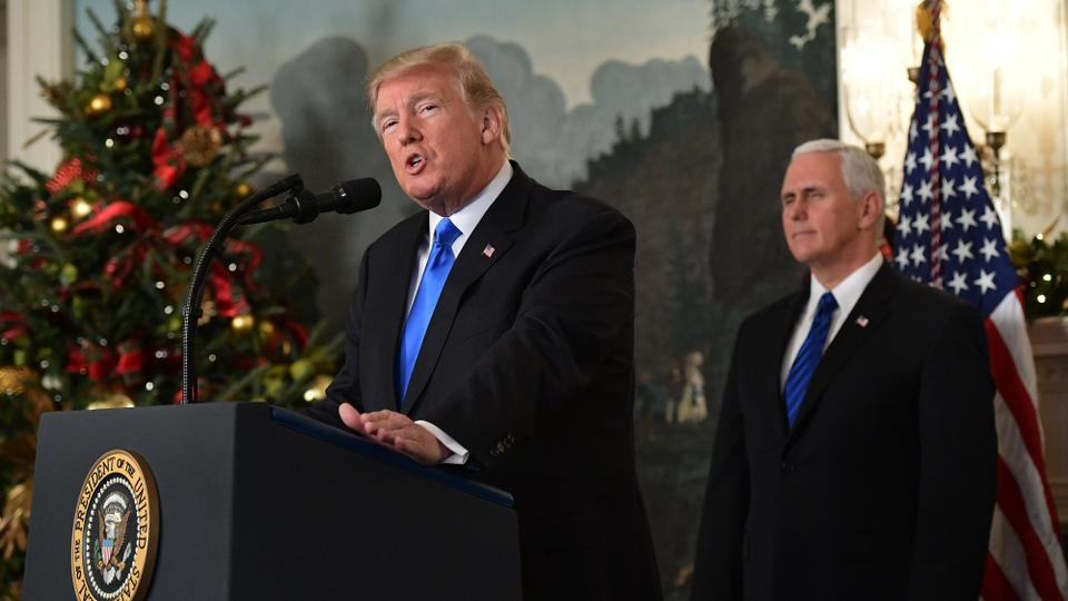 US President Donald Trump called for 'new approach' to Israel-Palestinian conflict. December 6, 2017