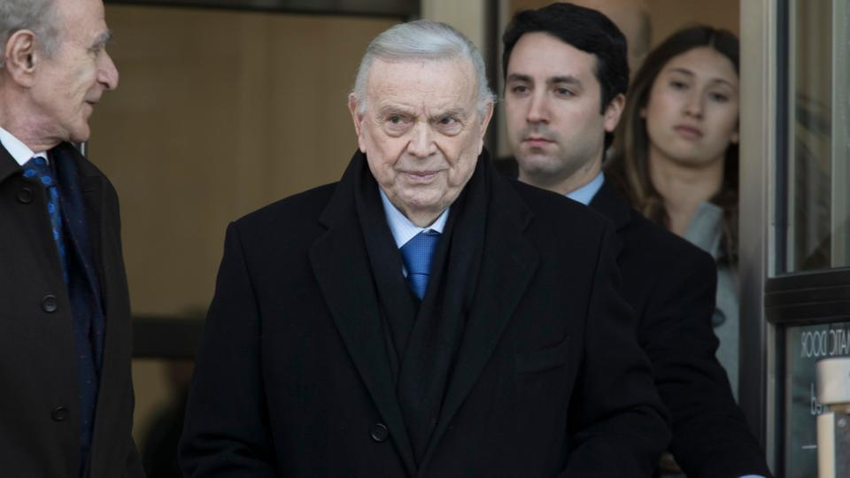 Jose Maria Marin leaves federal court in the Brooklyn borough of New York, Friday, Nov. 17, 2017. Marin, of Brazil, is one of three former South American soccer officials on trial in a US case highlighting widespread corruption in the sport.