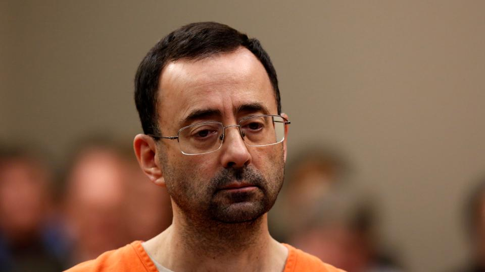 This file photo taken on November 22, 2017 shows former Michigan State University and USA Gymnastics doctor Larry Nassar appearing at Ingham County Circuit Court in Lansing, Michigan.