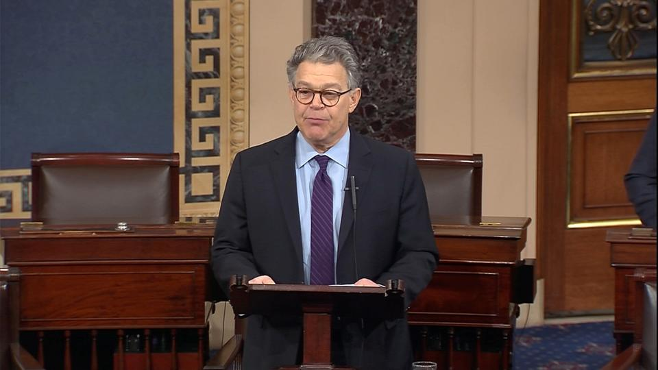 Allegations that Al Franken had groped and tried to kiss women without their consent began to surface three weeks ago.