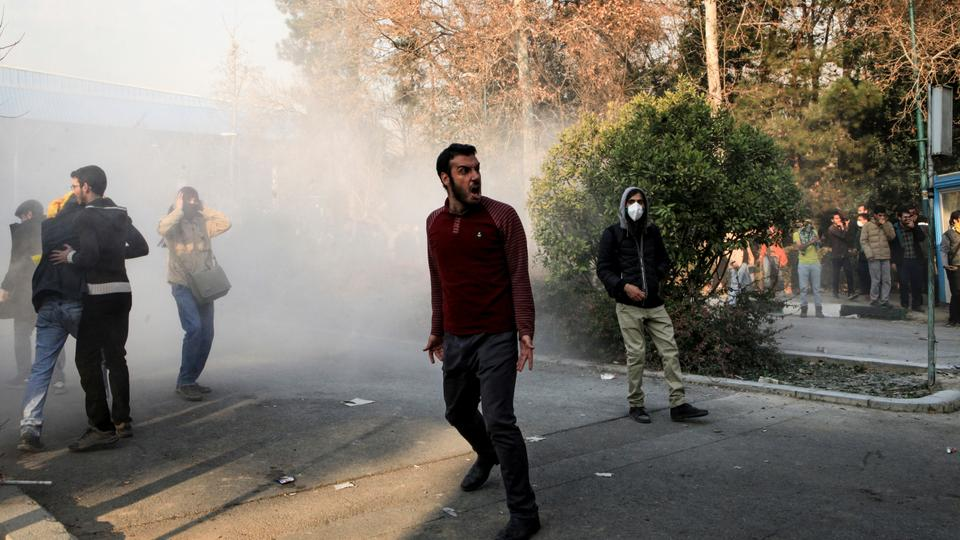 Hundreds of people came out on the streets in Iran for third straight day to express frustration over poor economic conditions.