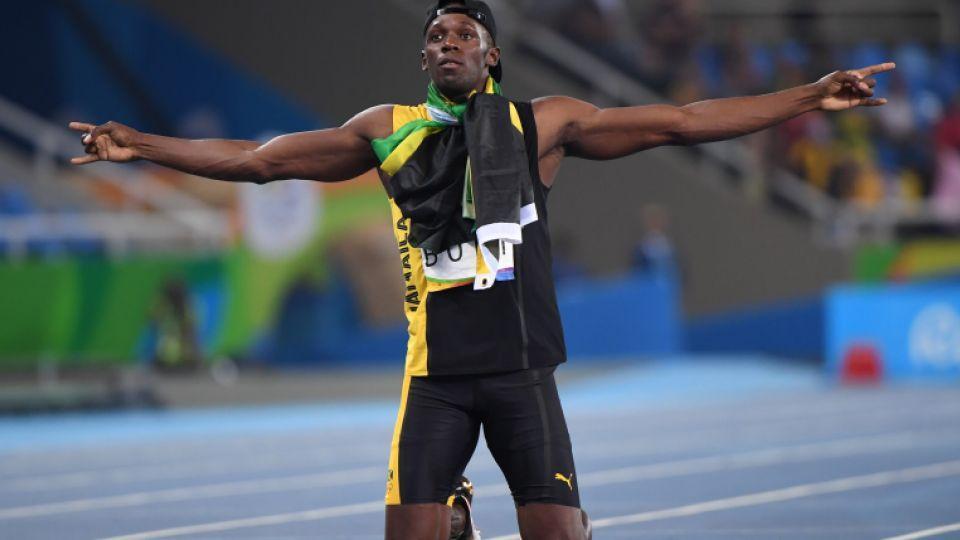 b56de0762be Jamaica s Usain Bolt celebrates after Team Jamaica won the Men s 4x100m  Relay ...