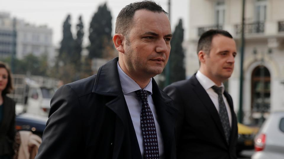 Macedonian Deputy Prime Minister for European Affairs Bujar Osmani arrives for a meeting with Greek Alternate Minister of Foreign Affairs George Katrougalos (not pictured) in Athens, Greece, January 9, 2018.