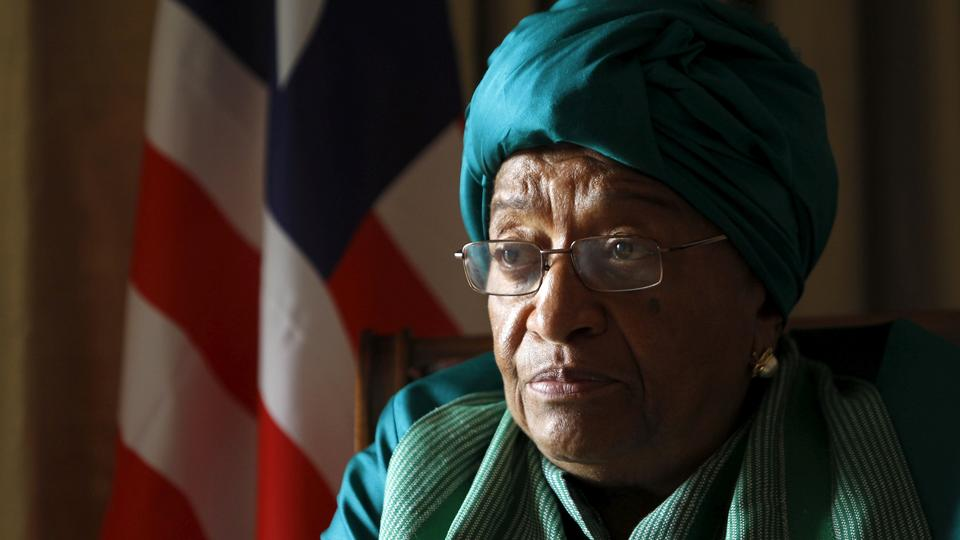 Liberia's President Ellen Johnson Sirleaf attends a Reuters interview ahead of the World Trade Organization (WTO) Summit in the capital Nairobi December 14, 2015.