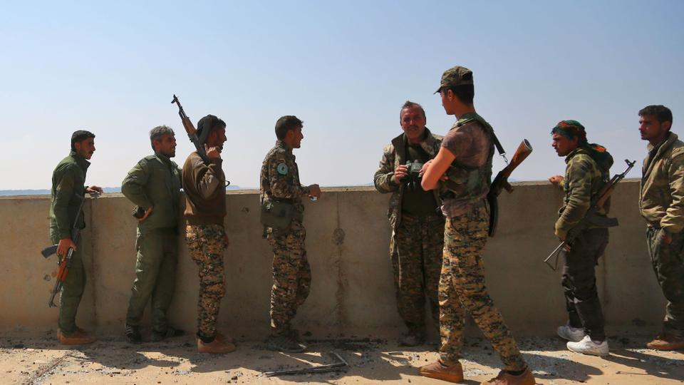 File photo shows members of the US-backed SDF, that is a YPG-dominated alliance of Arab and Kurdish fighters in Syria.