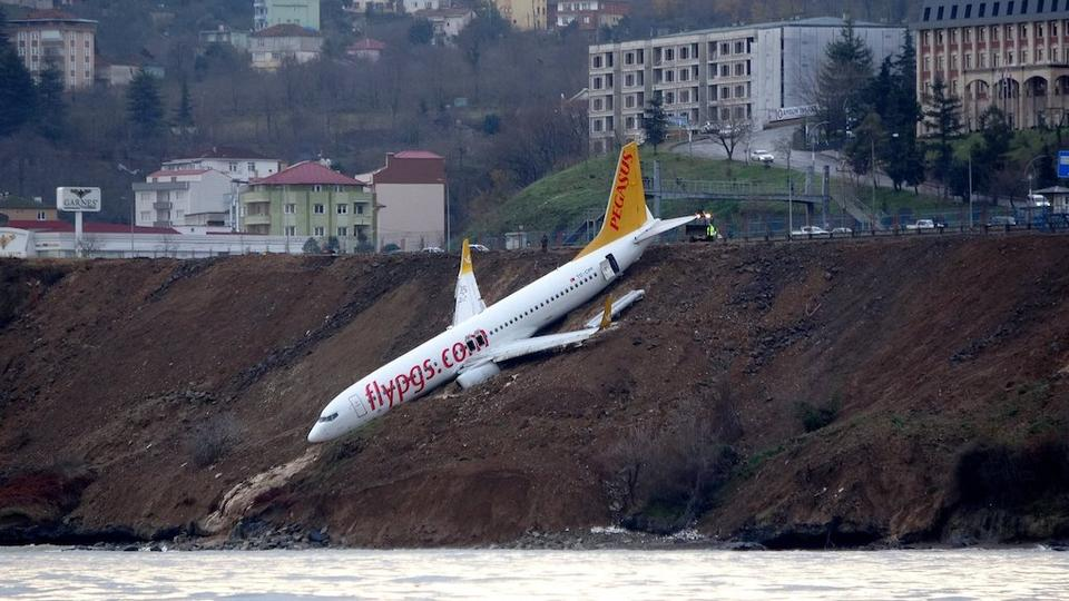 The Pegasus Airlines flight had taken off from the capital Ankara and was landing at the city of Trabzon.