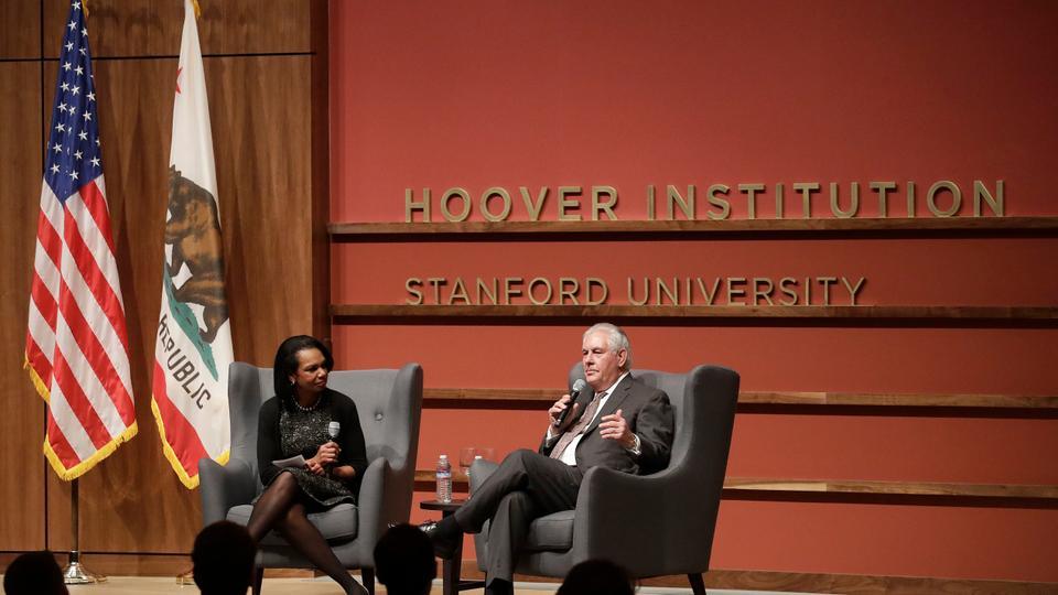 Condoleezza Rice Hoover Enstitüsü Tillerson ile ilgili görsel sonucu